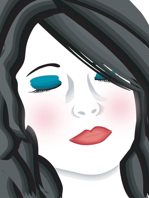 Vector Self Portrait by Ashley Dinges