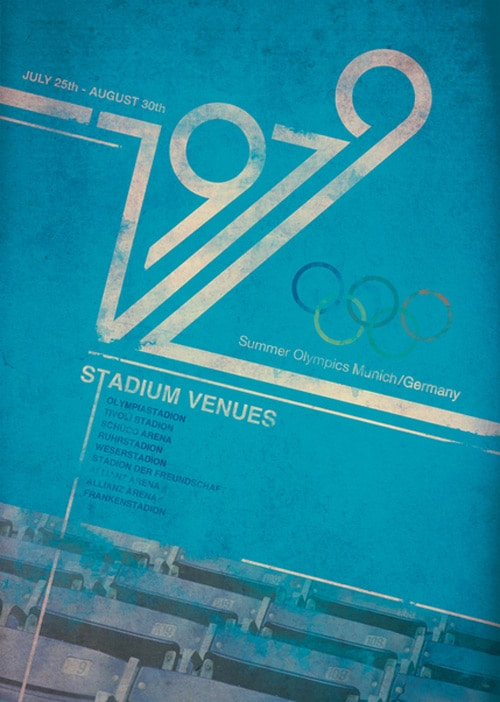 Retro 1979 Olympic Posters by Chris Page