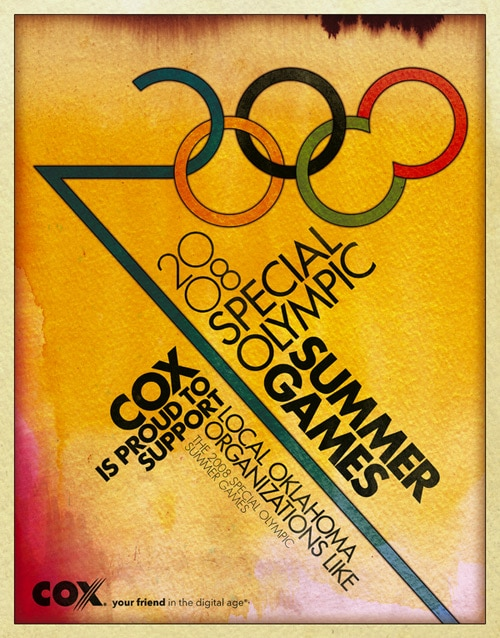 2008 Special Olympic Games Poster by Jenkin Hammond