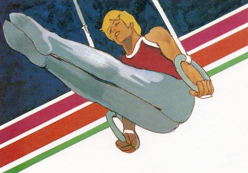 Artwork of 1984 Summer Olympics by Perry  Eyler