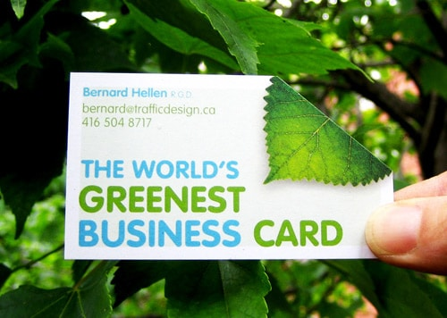 Green Business Card by By Bernard Hellen