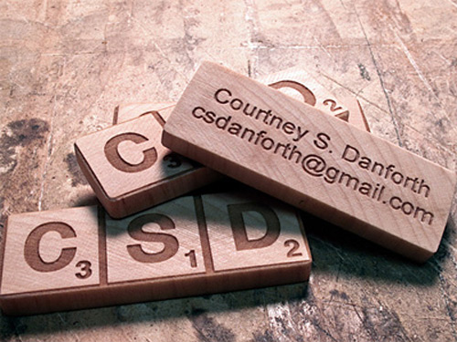 Business Card for Courtney Danforth by Jonathan Danforth