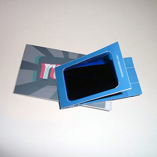Business card with 3D glasses by Raphael Essoo-Snowdon
