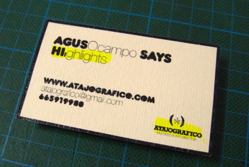Recycled Business Card By Atajografico