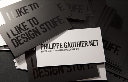 Custom Business Card By Philippe Gauthier