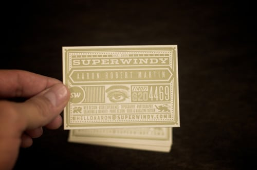 New SuperWindy business cards by iamaaronmartin