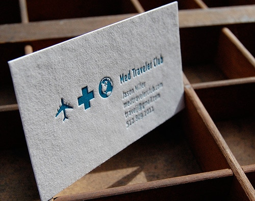Letterpress business cards by Sweet Olive Press