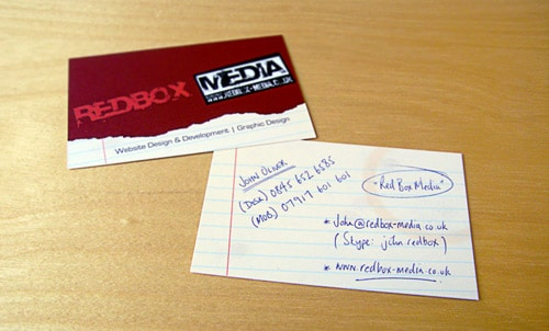 Redbox Media Business Cards by John Oliver