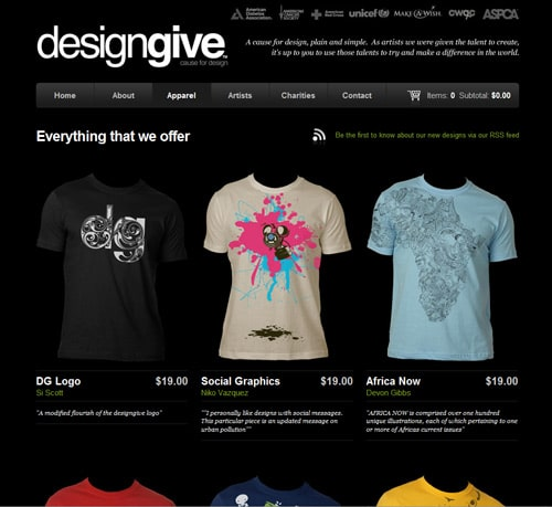 website design 30 beautifully designed t shirt sites