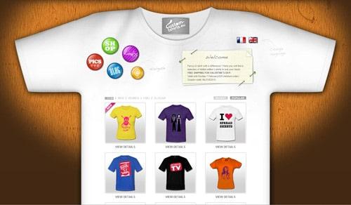 Website Design 30 Beautifully Designed T Shirt Sites