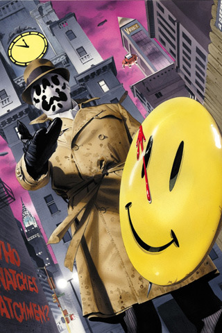 Rorschach Watchmen iPhone Wallpaper