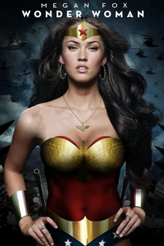 Megan Fox – Wonder Woman iPhone Wallpaper