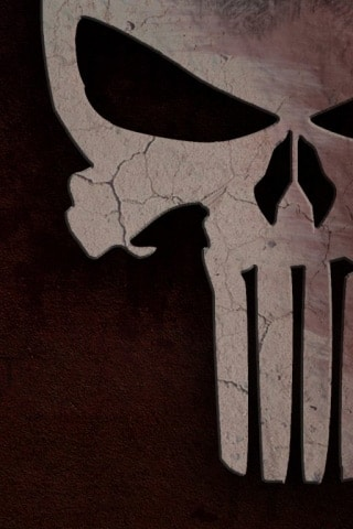 The Punisher Skull iPhone Wallpaper