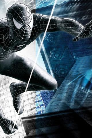 Grey Spiderman iPhone Wallpaper