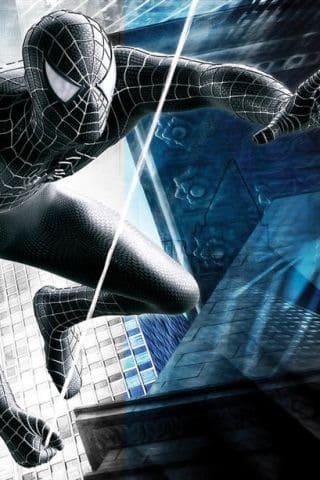 Grey Spiderman iPhone Wallpaper