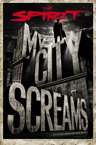 The Spirit – My City Screams iPhone Wallpaper