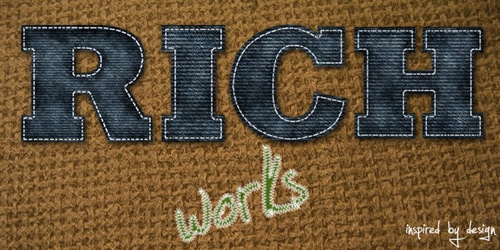 Create a Cool and Realistic Denim textured typography