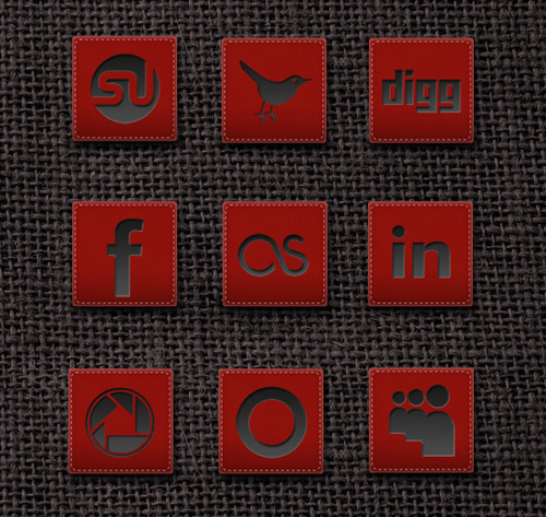 Create an awesome leather studded icon in Photoshop + Free PSD