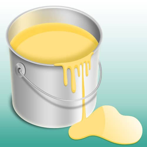 How to Create a Shiny Paint Bucket Icon
