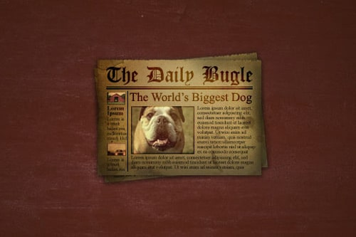 Create an Old and Stained Newspaper Icon in Photoshop
