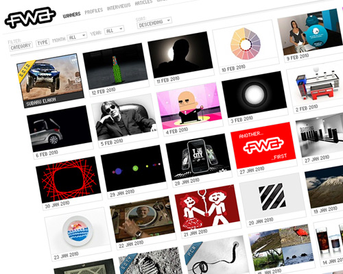 50 awesome website design galleries