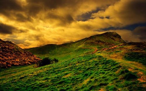 Sunset in Edinburgh By Andrzej Ustarbowski