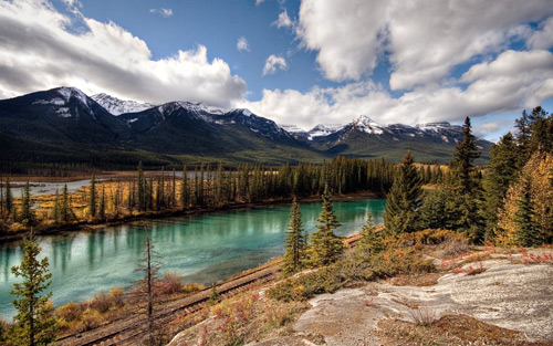 Banff National Park: Canadian Pacific Railway By mole2k