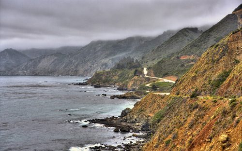 3 shot HDR on the coast of california near ragged point By Stross Arts
