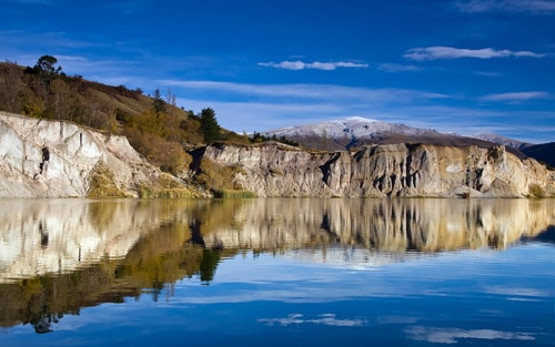 Blue Lake in St Bathans, New Zealand. By Chris Gin