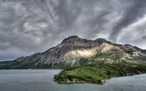 A rainy afternoon of Waterton Lakes, Alberta, Canada. By homer.yan