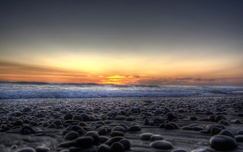 Carlsbad, California, Rocky Sunset By Adamschroder