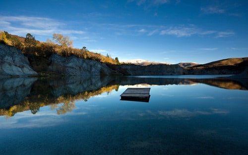 St Bathans, New Zealand. Blue Lake Jetty By Chris Gin