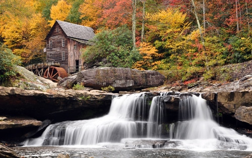 Babcock State Park, West Virginia. Autumn Mill By Travis Lair