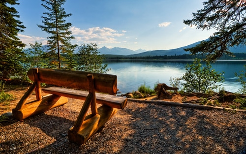 Jasper, Alberta, Canada. Have A Seat, Enjoy The View By TheReal7