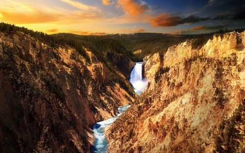 Lower Falls, Yellowstone By Macindows