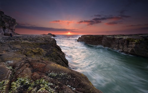 Auckland's Muriwai beach. Heaven's Gate By Chris Gin