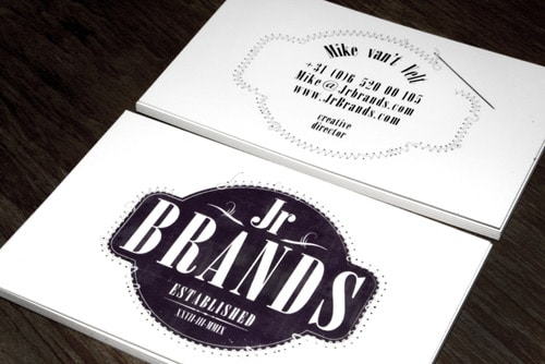 JR BRANDS business card