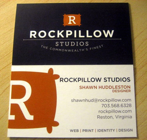 Rockpillow Business Card
