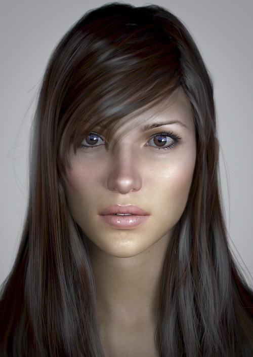 Portrait of a European Girl, Roja Huchez (3D)