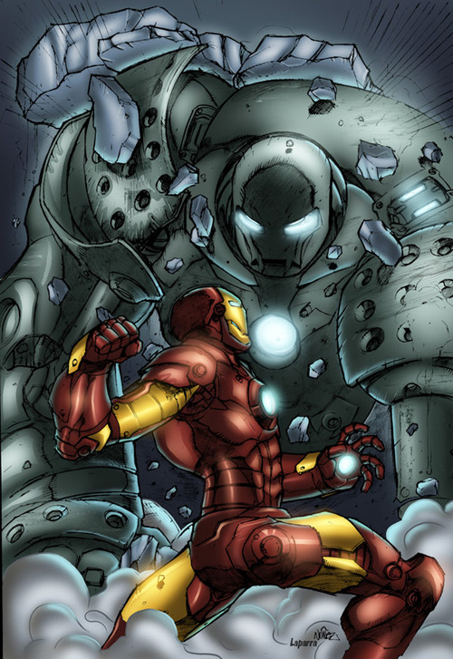 IronMan pin up by Javilaparra