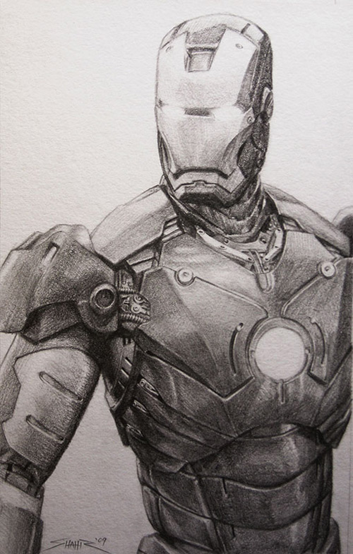 Iron Man in Pencil by Wulfsbane