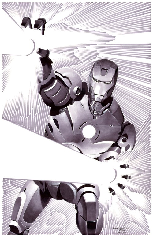 Iron Man- Marker Illo by chriss2d
