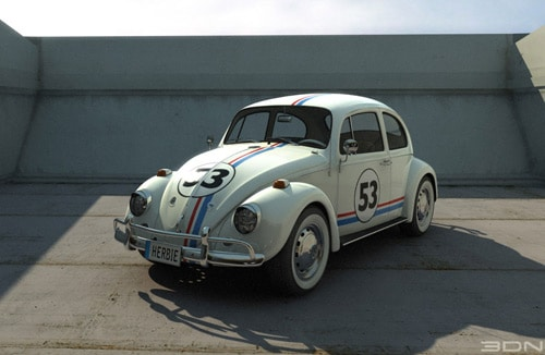 volkswagen beetle (herbie) in 3dsmax 9 and Vray by Ignacio Coscia