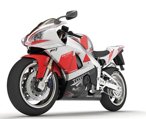 yamaha motorbike in 3ds max, VRay by Joyeq