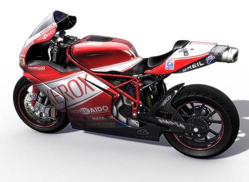 Ducati motorbike by Alessandro Baldasseroni