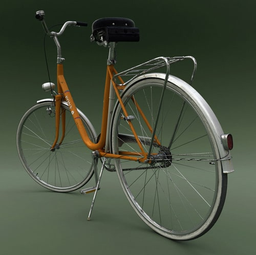 old fashioned bicycle in photoshop, 3dsmax, vray by Crtomir Just