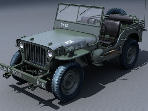 military jeep made with 3dsmax6 brazil rs by Dmitry Zaplatin