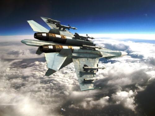 fighter plane in 3dsmax by calin dan