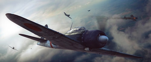 Fighter Plane in Combustion and Photoshop by Rodrigo Lloret Crespo