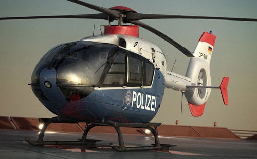 german police helicopter in 3dsmax by Andre Cantarel